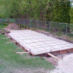garden shed foundatin photo