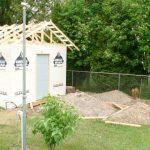garden shed construction progress