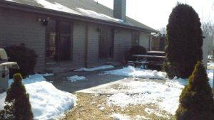 snow melting arounf three season room project area