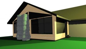 CAD rendering of the 3 season room project
