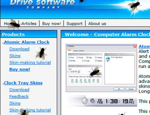 Flies on your Computer Display