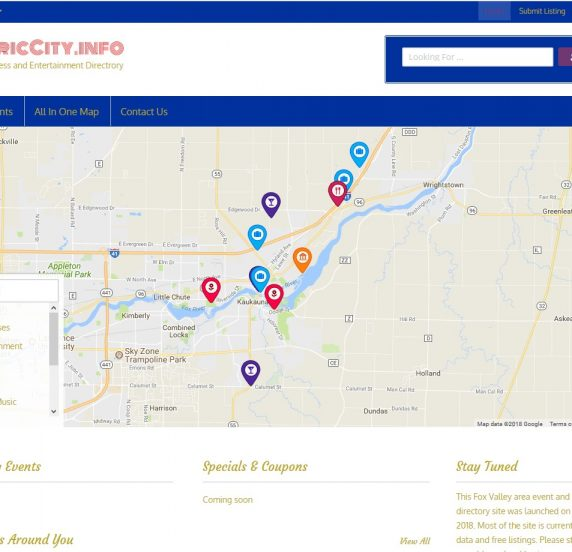 electric city website homepage