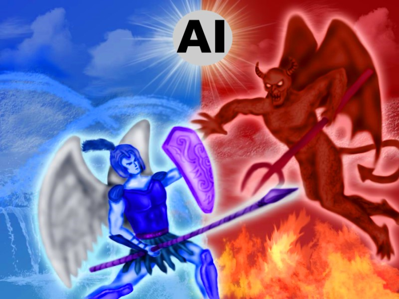 AI angel vs devil
